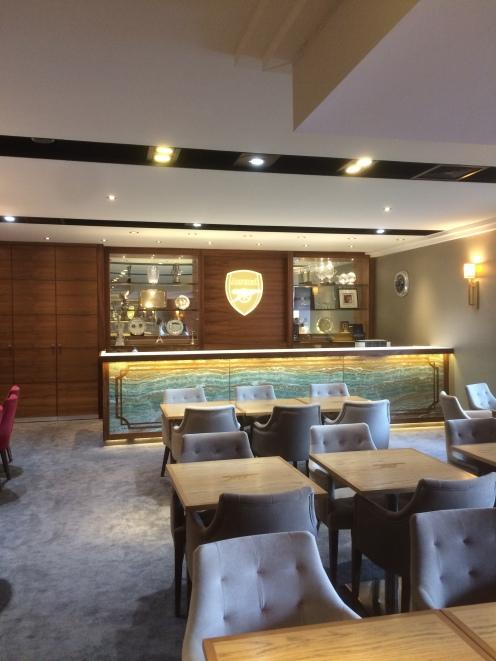 VIP's lounge in Emirates Stadium
